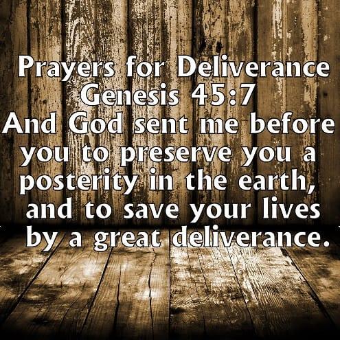 prayers for deliverance
