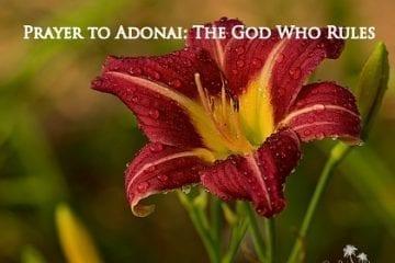 prayer to Adonai
