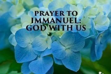 Prayer to Immanuel