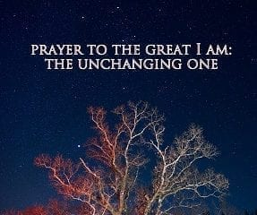 prayer to the great I Am