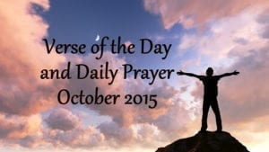 verse of the day and daily prayer october-2015