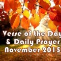 Verse Of The Day and Daily Prayer November 24 – God is My Deliverer