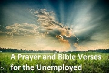 bible verse and prayer for unemployment