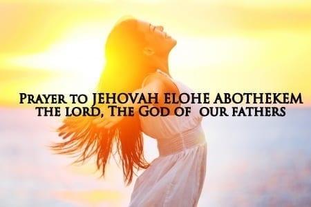 JEHOVAH ELOHE ABOTHEKEM