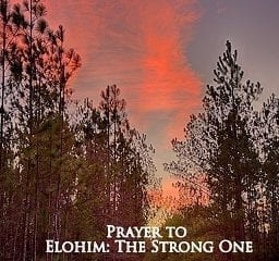 prayer to Elohim