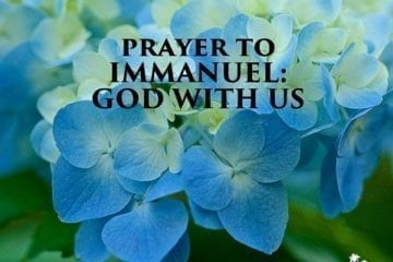 Prayer to Immanuel