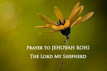 prayer to Jehovah Rohi