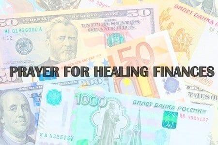 PRAYER FOR HEALING FINANCES