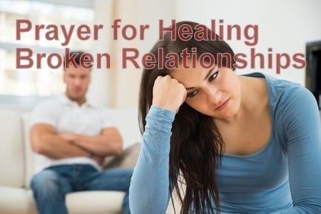 prayer for healing broken relationships