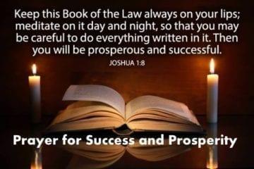 joshua 1:8 prayer for success