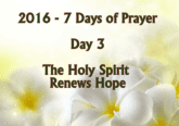 the holy spirit renews hope