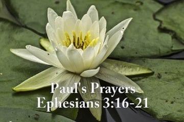 Paul's Prayers Ephesians 3 16-21
