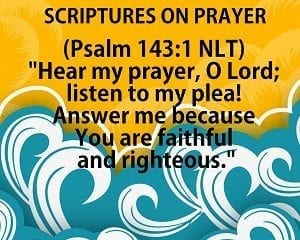 scriptures on prayer
