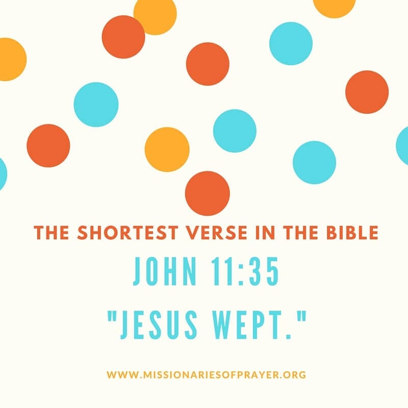 SHORTEST VERSE IN THE BIBLE