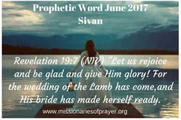 Prophetic Word June 2017 Sivan