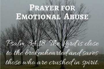 Prayer for Emotional Abuse