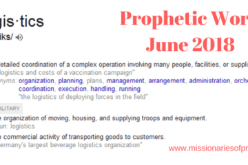 Prophetic Word June 2018