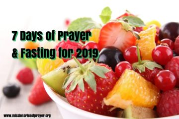 7 days of prayer and fasting for 2019