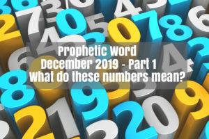 prophetic word december 2019