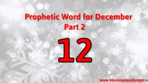 what does the number 12 mean, end of year prophecy