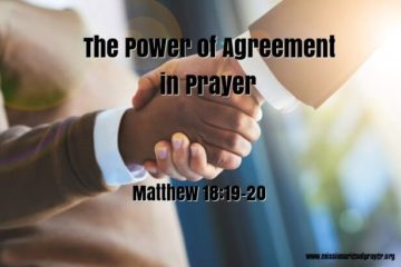 Power of Agreement in Prayer