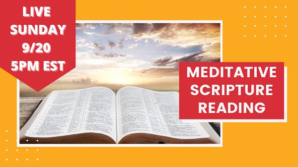 meditating on the bible