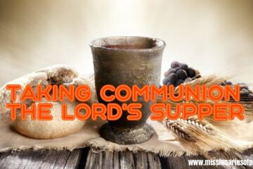 taking communion the lords supper