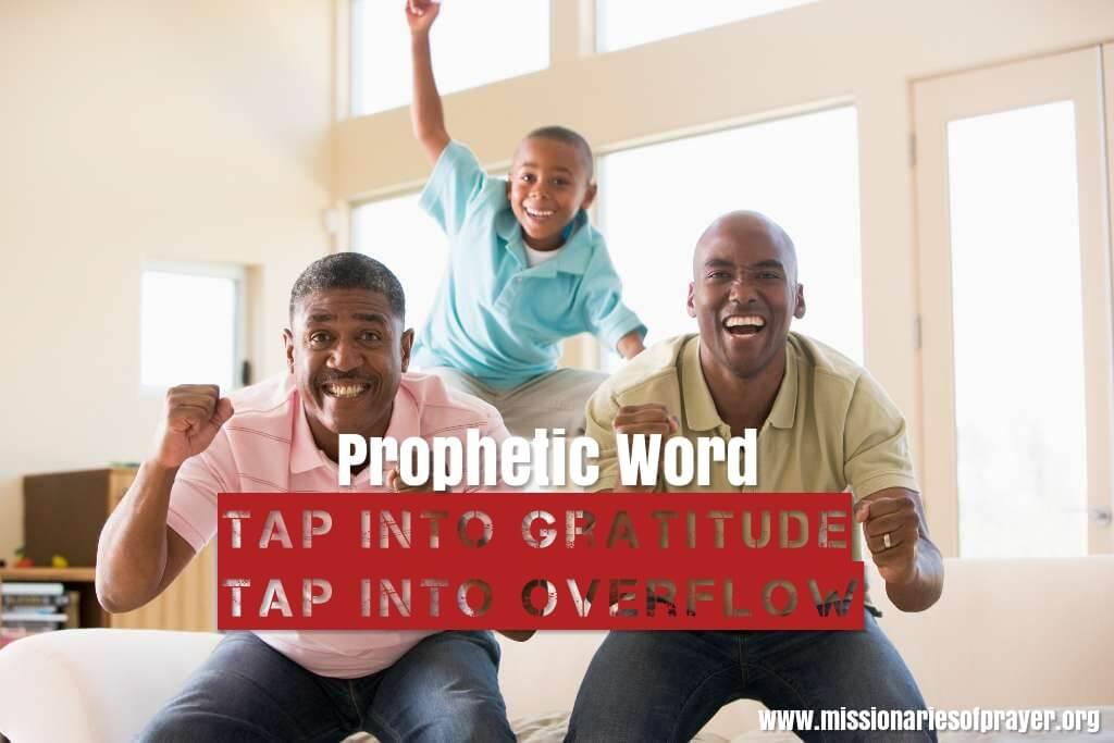 prophetic word gratitude