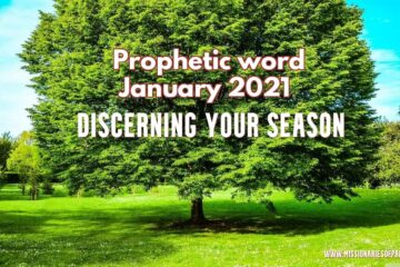 prophetic word for January 2021